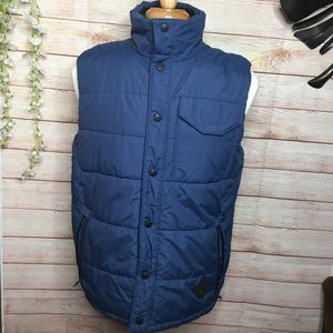 The North Face Navy blue puffer vest M